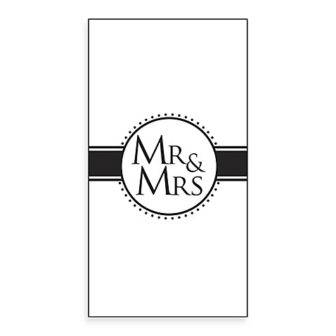 Mr. & Mrs. 16-Pack Guest Towels