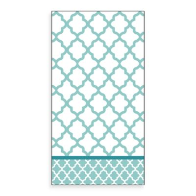 Trellis Chevron Guest Towels in 16-Pack