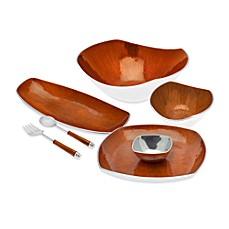 Simplydesignz Bodoni Serveware Collection in Papaya Orange