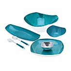 Simplydesignz Bodoni Serveware Collection in Turquoise