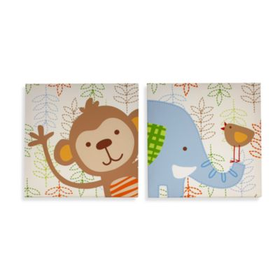 NoJo® Congo Bongo 2-Piece Canvas Wall Art Set