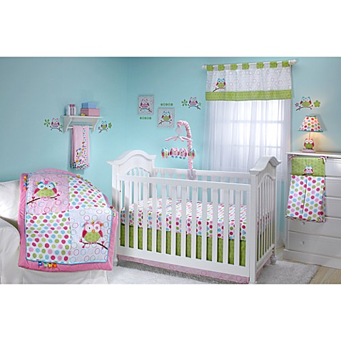 Buy taggies owl 4 piece crib bedding set from bed bath amp beyond