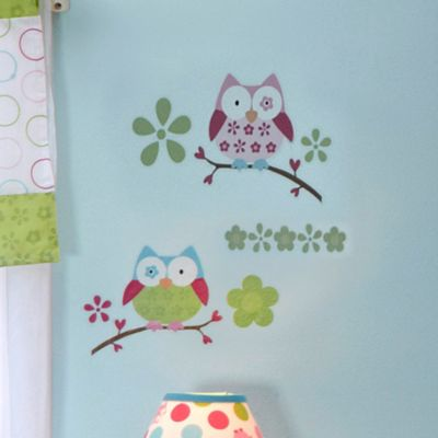 Taggies™ Owl Crib Bedding Collection > Taggies™ Owl Crib Wall Decals
