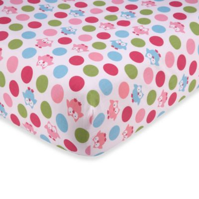 Taggies™ Owl Crib Bedding Collection > Taggies™ Owl Crib Sheet