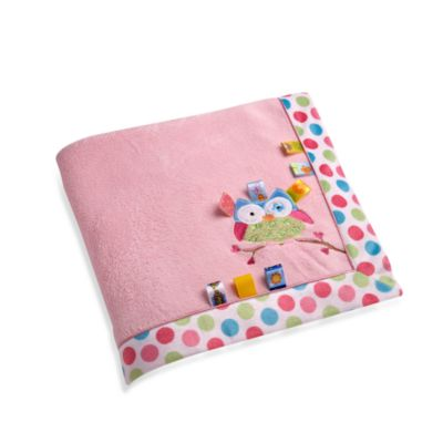 Taggies™ Owl Applique Coral Fleece Blanket