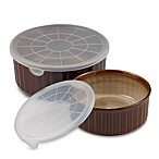 Nova Brown Covered Storage Bowls (Set of 2)