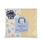 Gerber® 2-Pack Yellow Cotton Knit Fitted Crib Sheet