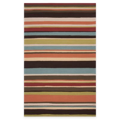 Arendal Indoor/Outdoor 5-Foot x 8-Foot Area Rug in Wenge