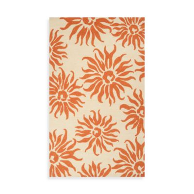 Rome Indoor/Outdoor Rug in Burnt Orange
