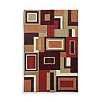 Mohawk Home Giles Area Rug in Bark Brown