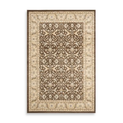 Safavieh 5 3 Brown Ivory Rug
