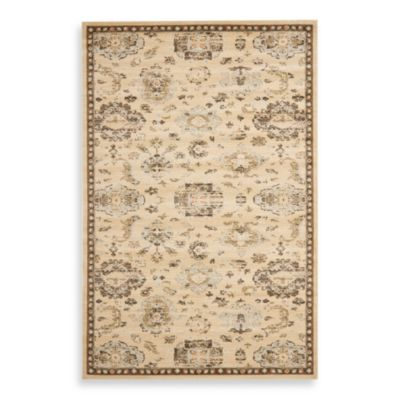Safavieh Florenteen-Jonquil 5-Foot 3-Inch x 7-Foot 6-Inch Floor Rug in Ivory/Brown