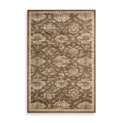 Safavieh Florenteen-Jonquil 5-Foot 3-Inch x 7-Foot 6-Inch Floor Rug in Brown/Ivory