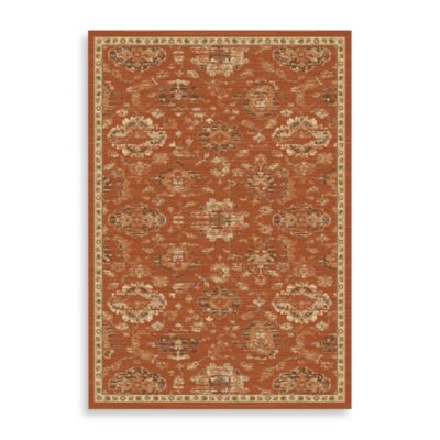 Safavieh Florenteen 8-Foot x 11-Foot Floor Rug in Rust/Ivory