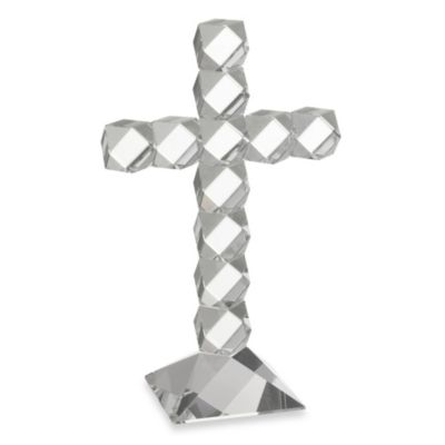 Oleg Cassini 9-Inch Twist Crystal Cross