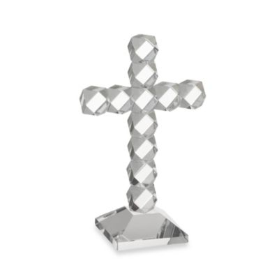 Oleg Cassini 7-Inch Twist Crystal Cross