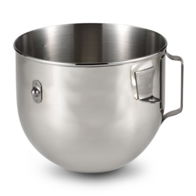 Polished Stainless Steel 5-Quart Bowl with Handle