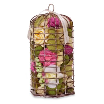 Sweet Nectar Hexagon Birdcage Potpourri in Pink