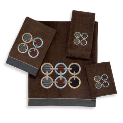 Avanti Axis Hand Towel in Mocha