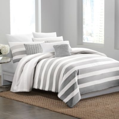 DKNY Highline Grey Twin Duvet Cover