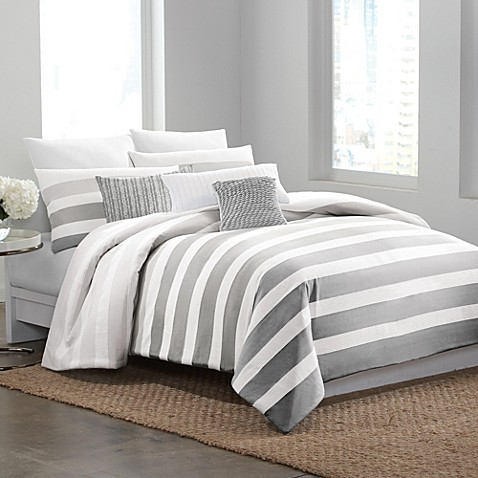 Buy DKNY Highline Grey Twin Duvet Cover from Bed Bath & Beyond