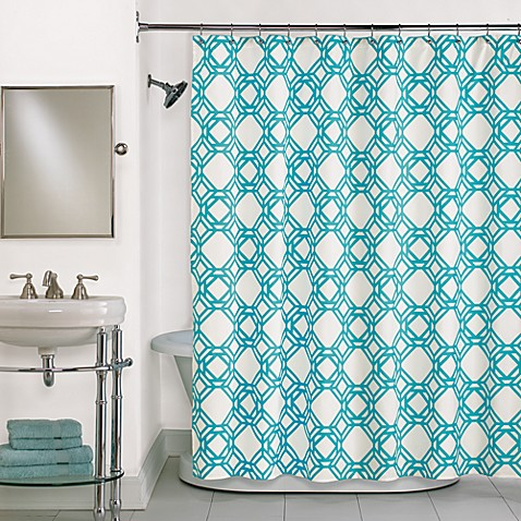 Trinity Blue Shower Curtain in Blue