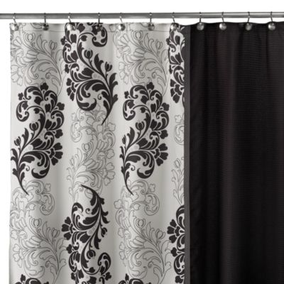 Normandy Pieced 70-Inch x 72-Inch Fabric Shower Curtain