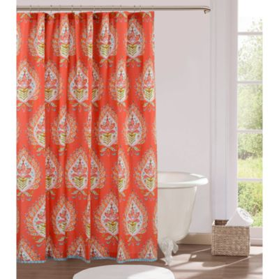 Kalani 54-Inch x 78-Inch Fabric Stall Shower Curtain