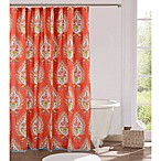 Kalani 72-Inch x 72-Inch Shower Curtain in Red