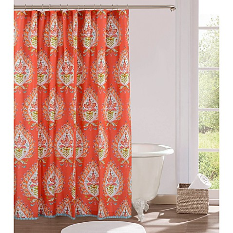 kalani fabric shower curtain bed bath beyond. Black Bedroom Furniture Sets. Home Design Ideas