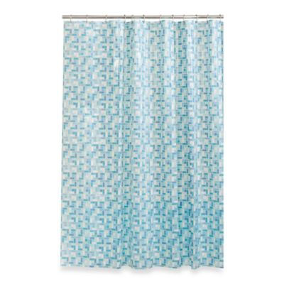 Stained Glass 70-Inch x 72-Inch Shower Curtain in Blue/Green