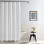 Real Simple® 70-Inch x 72-Inch Shower Curtain in Linear White