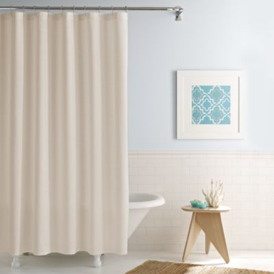 Real Simple® Shower Curtain in Linear Stone