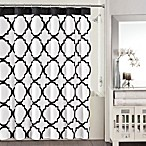 Studio 3B™ Jay Fret Shower Curtain in Black/White