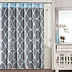 Studio 3B™ Jay Fret Shower Curtain in Grey/Blue