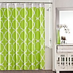 Studio 3B™ Jay Fret Shower Curtain in Green/White