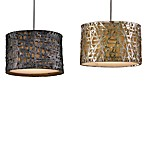 Uttermost Alita 3-Light Metal Drum Pendant Lamp