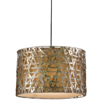 Uttermost Alita 3-Light Metal Hanging Shade Lamp in Champagne