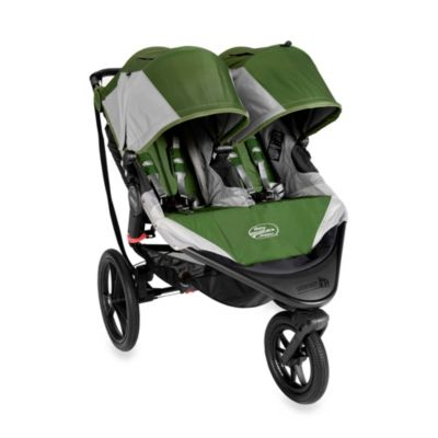 Baby Jogger™ Summit X3 Double Stroller – Green/Grey