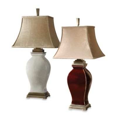 Uttermost Rory Ceramic Table Lamp in Burdundy