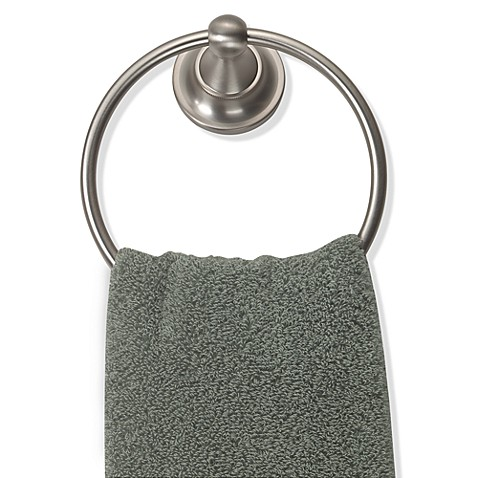 Tiara Satin Nickel Towel Ring