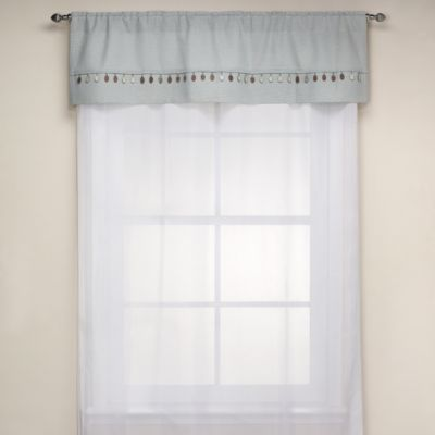 Chelsea 52-Inch W x 15-Inch L Window Curtain Valance in Green