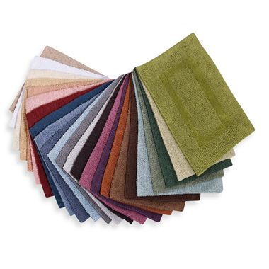 Wamsutta® Reversible 17-Inch x 24-Inch Cotton Bath Rug in Colors