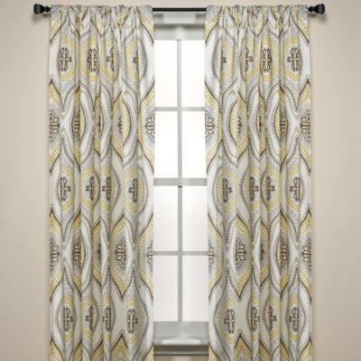Lanterna 108-Inch Window Curtain Panels, 100% Cotton in Sandstone