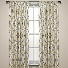 Lanterna Window Curtain Panels  100% Cotton