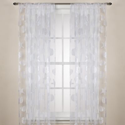 Nantucket Sheer 84-Inch Rod Pocket Window Curtain Panel