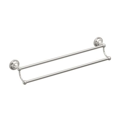 Tiara Satin Nickel Double Towel Bar