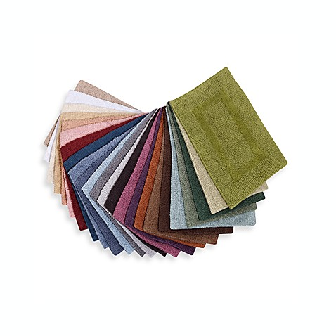 Wamsutta® Reversible 24-Inch x 40-Inch Cotton Bath Rug in Colors
