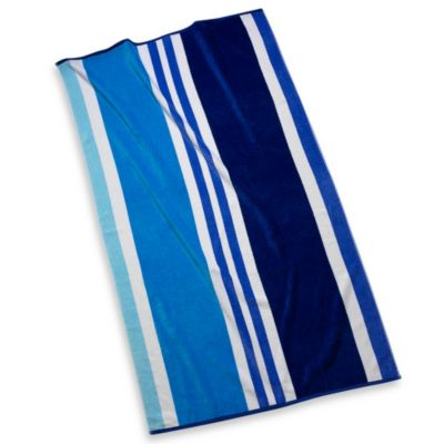 Beach Towel in Blue Stripe
