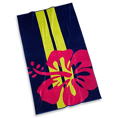 Blue Hibiscus Beach Towel